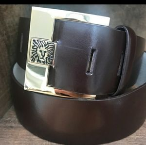 ANNE KLEIN BOLD BELT WITH SQUARE BUCKLE